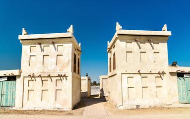 Traditional houses at Arad Fort on Muharraq Island, Bahrain