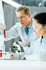 Laboratory Research. Scientists Doing Blood Analysis