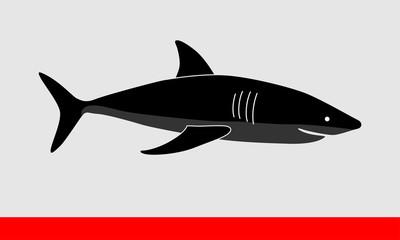 Shark silhouette vector illustration
