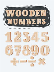 set of wooden numbers