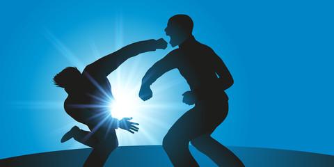 bagarre - violence - coup de poing - violent - ennemi - brutalité - loi du plus fort - voyou
