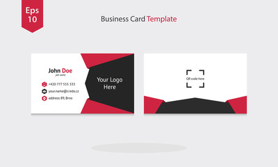 Business Card Template. Vector Illustration