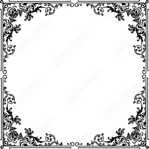 Marco Floral Elegante Stock Image And Royalty Free Vector Files On