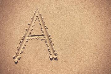 Sand Beach Alphabet: Letter A.