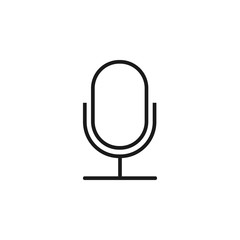 Microphone icon, recorder sign. Flat design. Vector illustration.