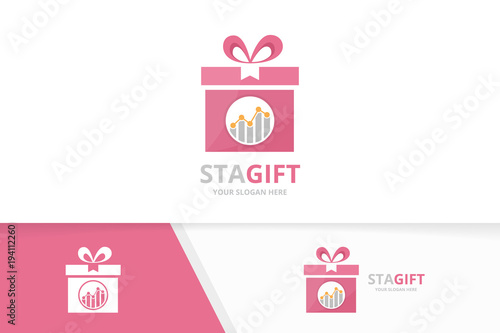 Vector graph and gift logo combination diagram and present symbol vector graph and gift logo combination diagram and present symbol or icon unique chart maxwellsz