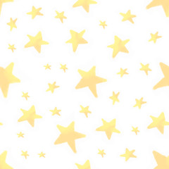 Cute colorful star seamless pattern. Funny festive background