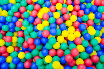 Colored plastic balls. Background. Texture