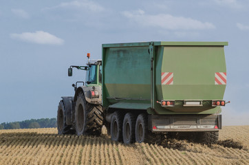 FARM - A modern tractor during field works