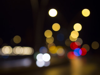 camera bokeh effect and lights