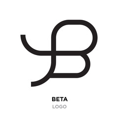 beta logo, flat vector sign B in modern style