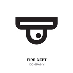 fire dept logo, camera linear Illustration isolated on white background