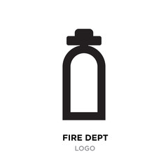 fire dept logo, linear Illustration isolated on white background