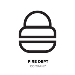 fire dept logo, lock linear Illustration isolated on white background