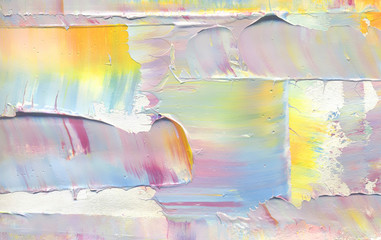 Colorful abstract painting background. Highly-textured oil paint. Texture palette knife. High quality details & resolution. Can be used for web design, art print, textured fonts, figures, shapes, etc.
