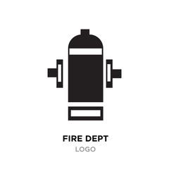 fire dept logo Vector Illustration isolated on white background