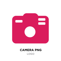 red camera logo png for photographers isolated on white background