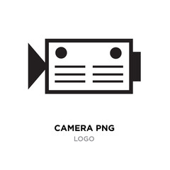 camera png icon, flat photo vector isolated. Modern simple snapshot photography sign. Instant trendy symbol. Logo illustration.