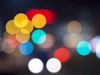 camera lens bokeh effect with traffic lights