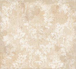 Damask ornament pattern texture Vector. Royal fabric background. Luxury decors textile