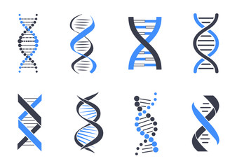 DNA Helix Patterns Colorful Vector Illustration