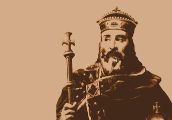 Charlemagne - empereur - portrait - personnage historique - personnage célèbre - histoire