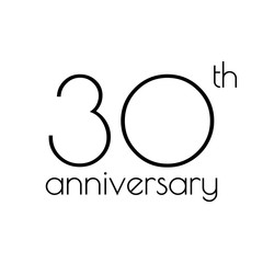 30th anniversary icon. 30 years celebrating and birthday logo. Vector illustration.