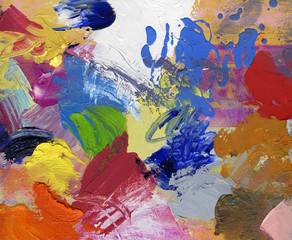 ölfarben acryfarben gespachtelt gemalt bunt