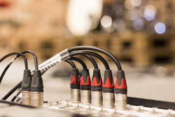 XLR cables plugged in