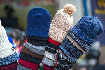 Woolen knitted caps