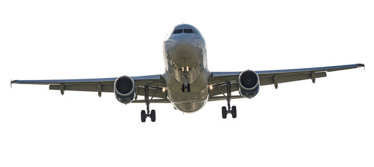Airliner isolated on white