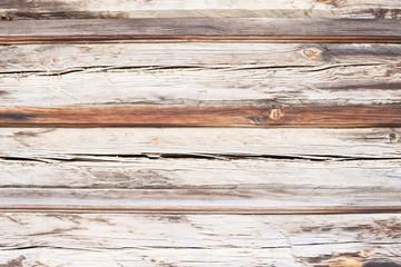 Natural texture. Wooden boards. Horizontal stripes. Large cracks