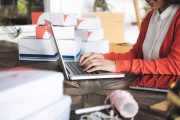 Online seller owner.Online shopping.
