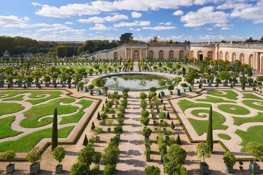 Versailles Gardens in the Golden Autumn