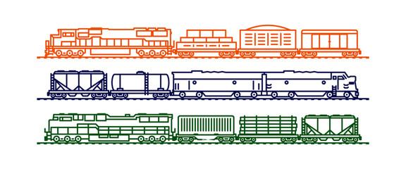 Cargo train cars