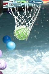 Indoor water park basketball