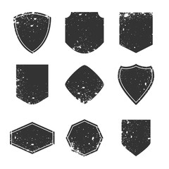 Grunge labels and design elements, borders and frames concept, Old vintage badges