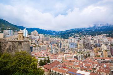 Monte Carlo city view, Monte Carlo cityscape, panorama, Monaco.
