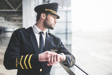 Pilot in airport