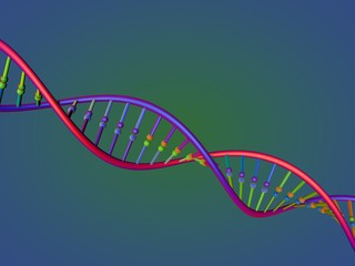 DNA strand. 3D rendering illustration.