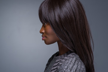 Profile View of a Beautiful African Model