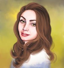Women portrait, oil paintings, digital art