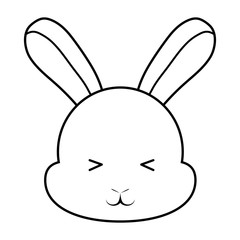 Cute rabbit icon