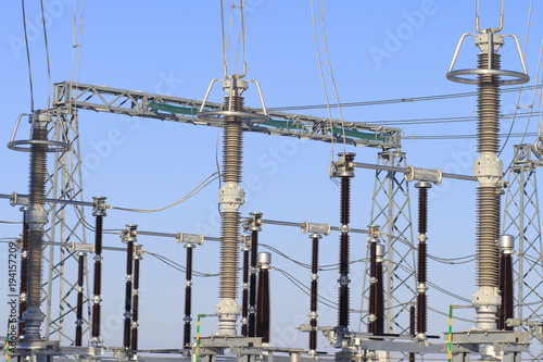 Power high voltage electric substation  Industrial