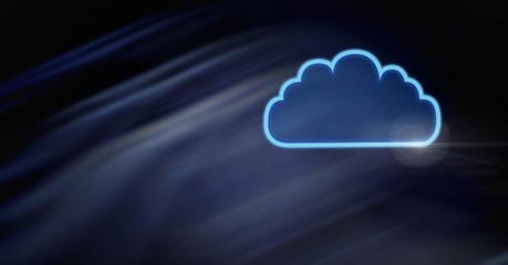 cloud icon with dark background