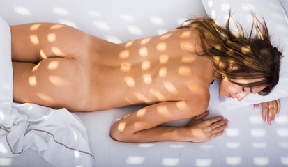 sleeping naked sunbeams