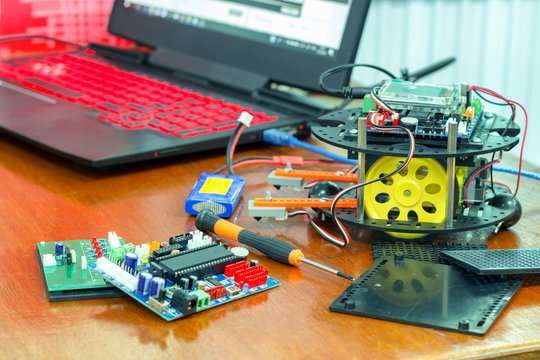 programming a robot controller.