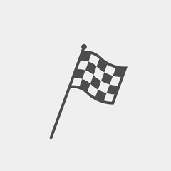 Racing flag flat vector icon