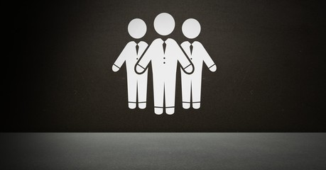 Three Business people group icon