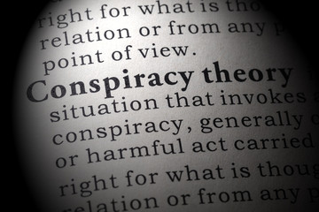 Wall Mural - definition of conspiracy theory